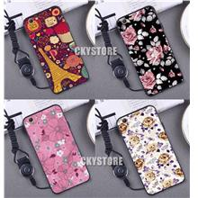 OPPO Neo 9 A37 Trendy Cartoon TPU Case with FREE Strap