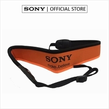 Sony Orange Black Neoprene Shoulder Neck Camera Strap
