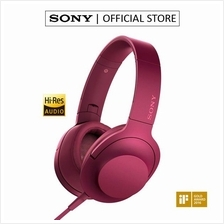 SONY MDR-100AAP Over-Ear Mobile Phone Headphones with Mic (Pink)
