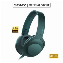 SONY MDR-100AAP Over-Ear Mobile Phone Headphones with Mic (Blue)