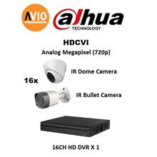 Dahua AVIO 720P 1000 Package C 1 MP MegaPixel CCTV 16 ch channel HD Pa