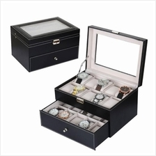 20 Slots PU Leather Watch Display & Storage Box Case - Ready Stock