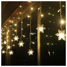 2M LED Curtain Snowflake String Light Christmas Wedding Party Decor