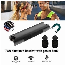 Twins In-Ear Bluetooth Earbuds, Wireless V4.2 True Stereo Surround