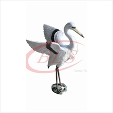 H 47 CM POLYRESIN STORK BIRD ( OPEN WINGS ) BURUNG BANGAU