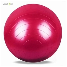 OUTLIFE 65CM PVC GYM YOGA BALL ANTI-SLIP FOR FITNESS TRAINING (RED)