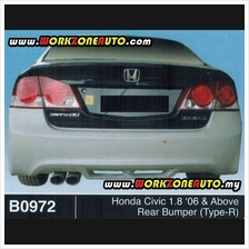 Honda Civic SNA 1.8 2.0 2006 SNB 1.8 2.0 2009 Rear Bumper