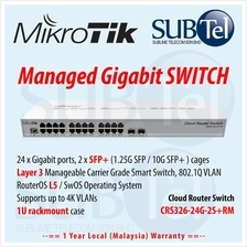 CRS326-24G-2S+RM 24 port Mikrotik L3 SFP+ Router Switch Malaysia 10G