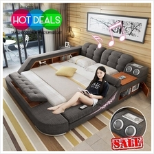 New King Size Tatami Double Bed With Integrated Massage Speakers Desk)