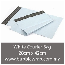 Courier Bag WHITE Flyer Plastic Bag Size M 28cm*42cm