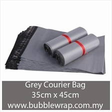 Courier Bag Grey Flyer Plastic Bag L 35cm*45cm