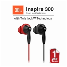 Original JBL Inspire 300 In-Ear Sport Headphones With Mic & Twistlock