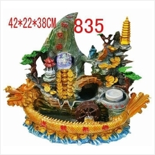 FENG SHUI WATER FOUNTAIN DRAGON DESIGN 835 FEATURE HOME DECORATION
