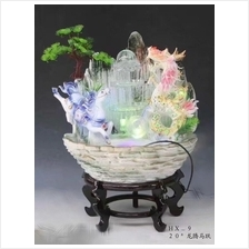 FENG SHUI WATER FOUNTAIN DRAGON AND HORSE DESIGN FEATURE DECORATION