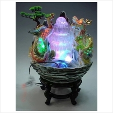FENG SHUI WATER FOUNTAIN DRAGON AND PHOENIX DESIGN FEATURE DECORATION