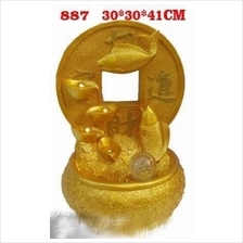 FENG SHUI WATER FOUNTAIN GOLD FISH DESIGN 887 FEATURE DECORATION