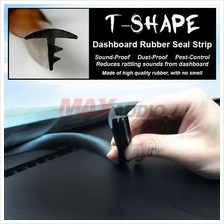 T-Shape Car Dashboard Interior Rubber Seal Trim Strip Sound Proof 1.6m