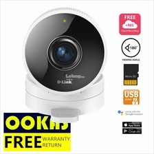 D-LINK HD 180-Degree Wi-Fi  Wireless Cloud Camera Microsd DCS-8100LH