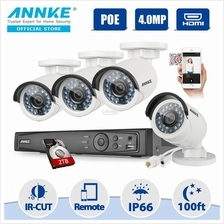 ANNKE 2MP 1080P POE IP 4 Bullet Cameras 2TB Seagate HDD CCTV NVR
