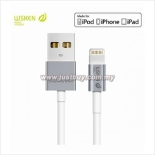 WSKEN Apple MFI Certified Metal Lightning Cable - Grey (Support IOS 9)