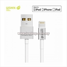 WSKEN Apple MFI Certified Metal Lightning Cable-Silver (Support IOS 9)
