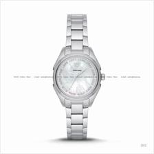 EMPORIO ARMANI AR11030 Women's Valeria 3-hand Glitz Bracelet White MOP