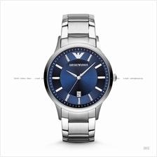 EMPORIO ARMANI AR2477 Men's Classic 3-hand Date SS Bracelet Navy