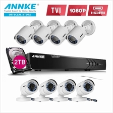 ANNKE 2MP 1080P HD 8 Bullet Cameras Included 2TB Seagate HDD CCTV DVR