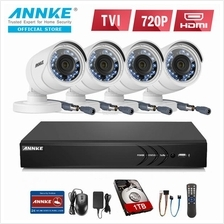 ANNKE 2MP 1080P 4 Bullet Cameras Included 1TB TOSHIBA HDD CCTV DVR