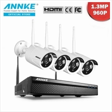 ANNKE 1.3MP 960P 4 Channel Wi-Fi Full HD NVR CCTV Camera No Hard Disk