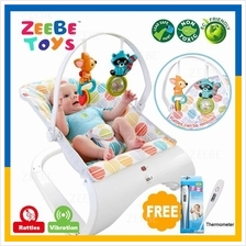 ZEEBE Baby Curve Bouncer New Born Toddler Music Chair Safety Belt 01