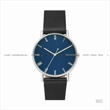 SKAGEN SKW6434 Men's Signatur 3-hand Leather Strap Blue Black