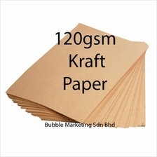 200pcs Brown Kraft Paper 120gsm A4 for Printing and Craft