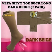 VEFA SILVY TOE SOCK STOKIN LONG BEIGE, DARK BEIGE AND BLACK (1 PAIR))