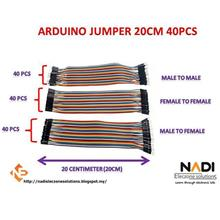 40pcs 20cm Female to Female Dupont Wire Jumper Arduino PIC Breadboard