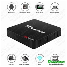 MX9 Max Quad Core Android 7.1 Smart TV Box RK3328 2GB 16GB WIFI 4K Med