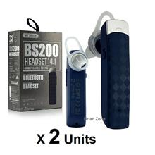 2 units WK Design BS-200 Bluetooth Headsets