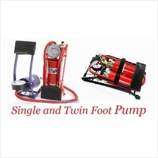 Inflatable Single/Twin Cylinder Foot Air Pump for Bike Car Motorcycle
