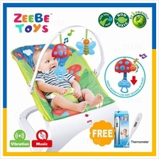 ZEEBE Baby Curve Bouncer New Born Toddler Music Chair Safety Belt 06