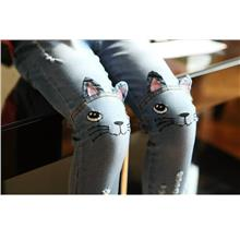 Children Cat Jeans)