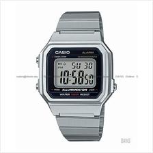 CASIO B650WD-1A STANDARD digital chrono alarm retro SS bracelet silver