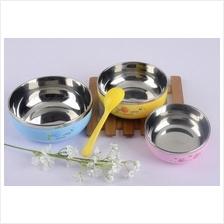 Lovely Cartoon Kids Safety Bowl + Spoon