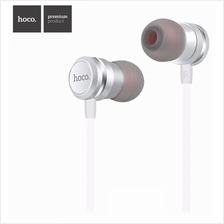 ORIGINAL HOCO M16 IN-EAR EARPHONE WITH REMOTE AND MIC 1.2 METER - SILV