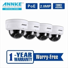 ANNKE 2MP 1080P 4 POE IP Dome Camera Indoor Outdoor Cameras