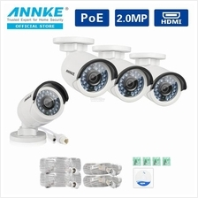 ANNKE 2MP 1080P 4 POE IP Bullet Cameras Indoor Outdoor Cameras
