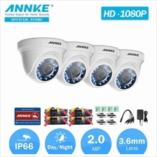 ANNKE 2MP 1080P 4 Dome CMOS Sensor IR-Cut Filter Weatherproof Camera