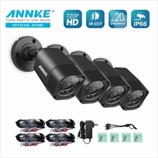 ANNKE 1MP 3.6mm 720P 4 Bullet IR-CUT IP66 Three-Axis Bracket Cameras