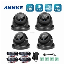 ANNKE 1MP 3.6mm 720P 4 Dome IR-CUT IP66 Wide Application Cameras