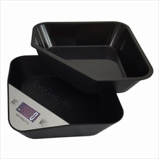 Kitchen Scales with Removable Tray or Mixing bowl (Black)