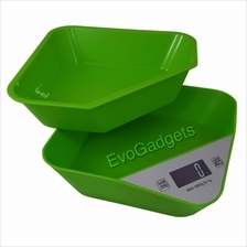 Kitchen Scales with Removable Tray or Mixing bowl (Green)